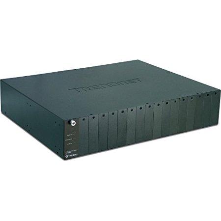 TRENDnet 16-Bay Fiber Converter Chassis System SNMP Management Module TFC-1600 (Black)