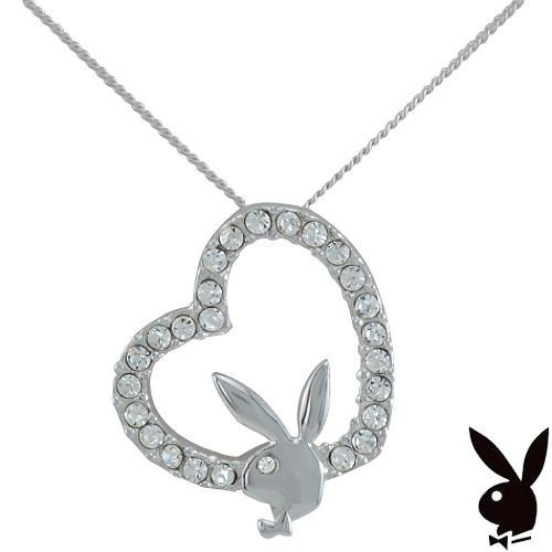 Letter O Playboy Platinum Plated Bunny Initial Pendant BRAND NEW