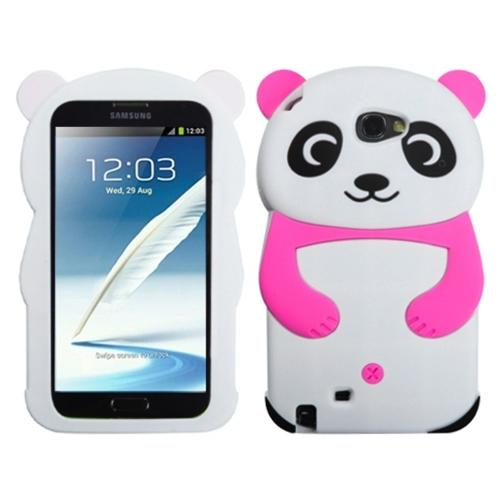 Insten White Panda (with Hot Pink Hands) for SAMSUNG: Galaxy Note II (T889/I605/N7100)