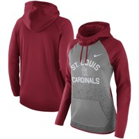 St. Louis Cardinals Nike Women's All-Time Therma Performance Pullover Hoodie - Dark Gray