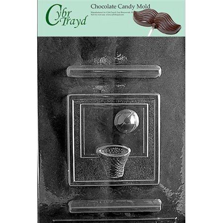 Cybrtrayd S060 Sports Chocolate Candy Mold, Basketball - Sport Candy