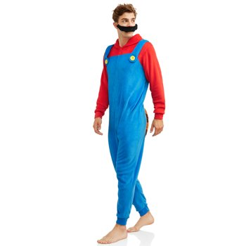 Nintendo Men's Mario Raccoon Union Suit (Blue)