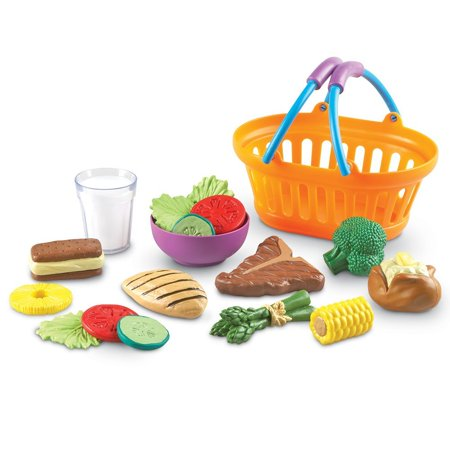 New Sprouts - Play Dinner Basket, 18 Pieces, Ages 18 mos+ (Play Green Sprouts)