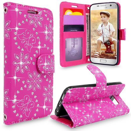 - S7 Case, Galaxy S7 Wallet Case, Cellularvilla [Slim] [Card Slot] Premium Pu Leather Wallet Case [Wristlet] [Drop Protection] Flip Protective Stand Cover For Samsung Galaxy S7 G930