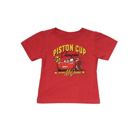 6b66e8bc Toddler Boys Cars Lightning McQueen Distressed Graphic T-Shirt Red - image 1  of 1 ...