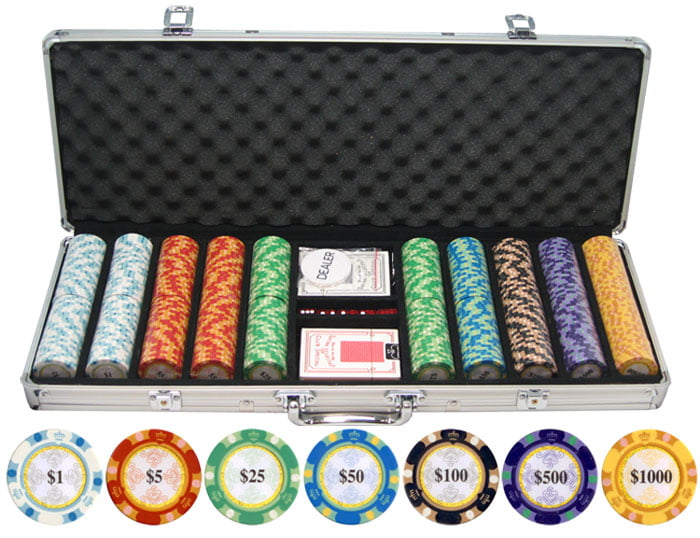 13.5g 500pc Monte Carlo Clay Poker Chips by