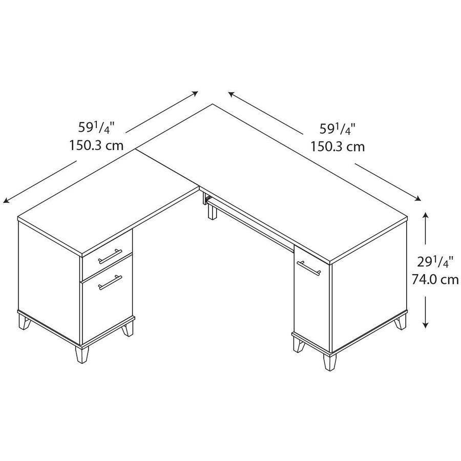 about this item bush saratoga computer desk