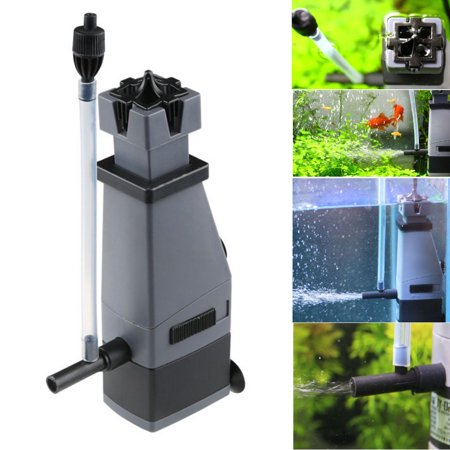Moaere Aquarium Fish Tank Surface Skimmer Filter Plant Freshwater Marine Oil 3W