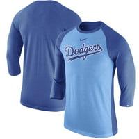 e904480ca64 Product Image Los Angeles Dodgers Nike MLB Tri-Blend Raglan 3 4-Sleeve T-