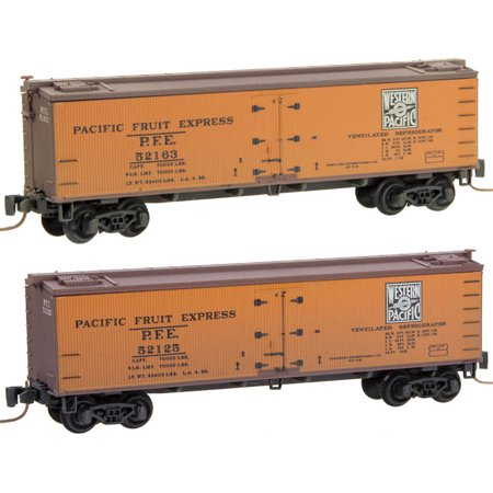 Micro-Trains MTL Z-Scale 40ft Wood Reefers Western Pacific/WP Weathered 2-Pack ()