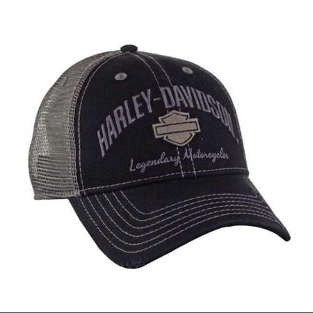 Men's Baseball Cap, H-D Bar & Shield Mesh Hat, Black BC51654, Harley Davidson - Black Baseball Hat
