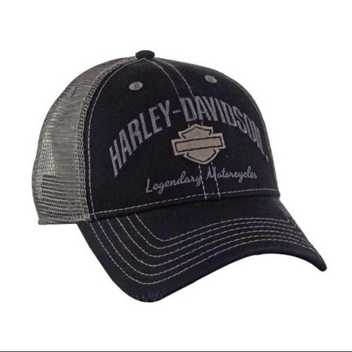 Harley-Davidson Men's Baseball Cap, H-D Bar & Shield Mesh Hat, Black BC51654, Harley Davidson