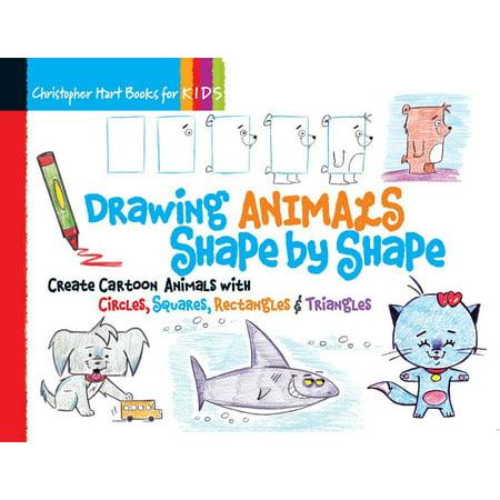 DRAWING ANIMALS SHAPE BY SHAPE: CREATE CARTOON ANI