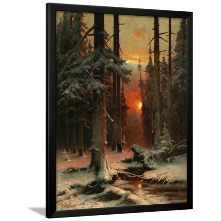 Snow in Forest, 1885 Framed Print Wall Art By Juli Julievich Klever ()