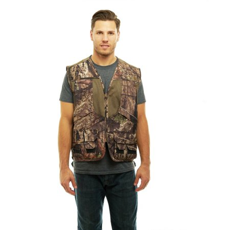 Mossy Oak Camo Mens Deluxe Front Loader Hunting Shooting Vest -Turkey- Bird (Breakup Country,4XL) thumbnail