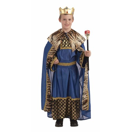 King of the Kingdom Boy's Deluxe Costume (King Costume)
