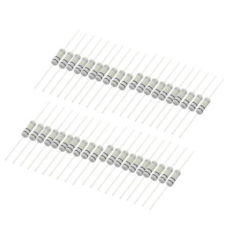40 Pcs 3 Watt 100K Ohm Resistance Electrical Carbon Film Resistor (Let The Resistance Of An Electrical Component)