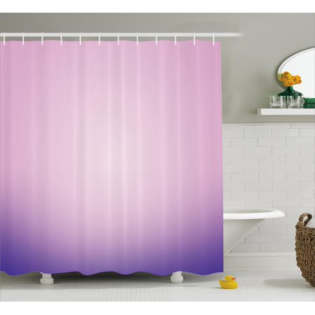 Lavender Shower Curtain Pink And Purple Ombre Print Modern Pastel Color Gradient Design Digital Art