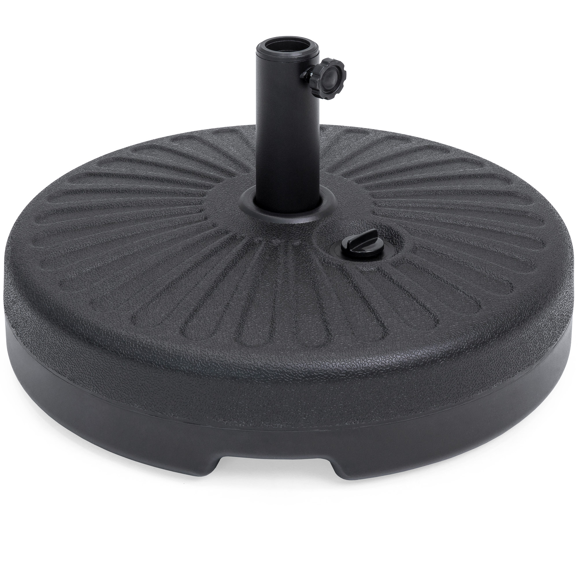 Best Choice Products Plastic Fillable Patio Umbrella Base Stand Pole Holder for Outdoor, Lawn, Garden - Black
