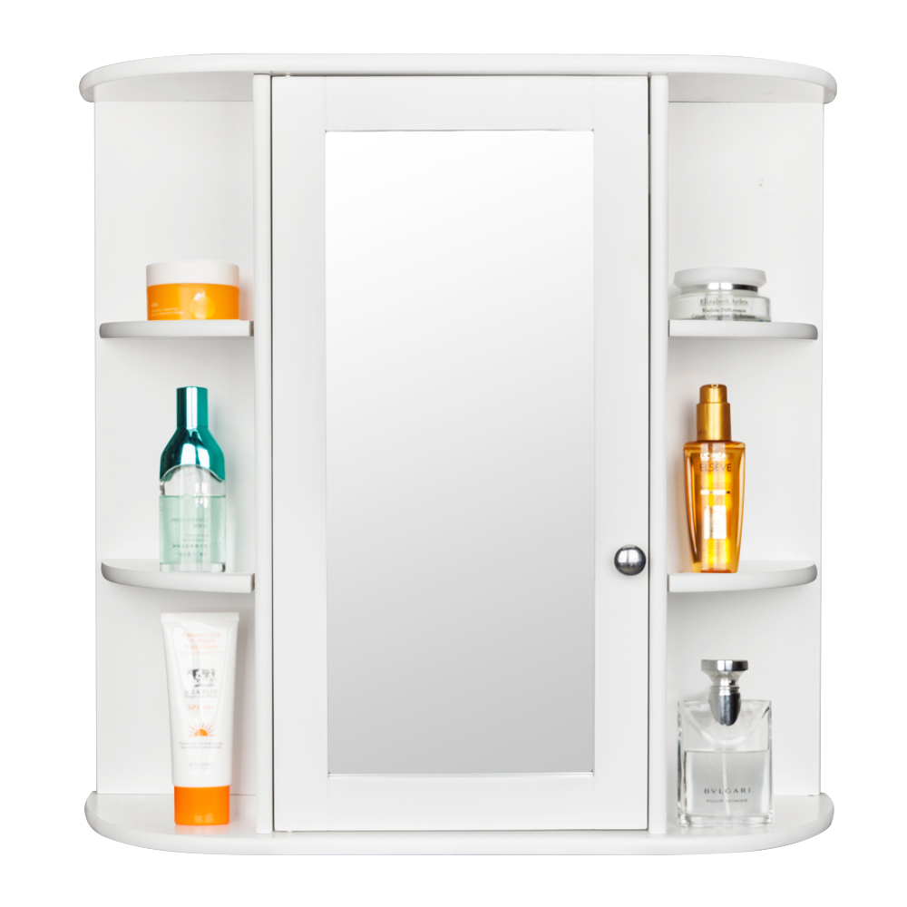 Zimtown Bathroom Wall Cabinet Mirror Cupboard Storage Single Door