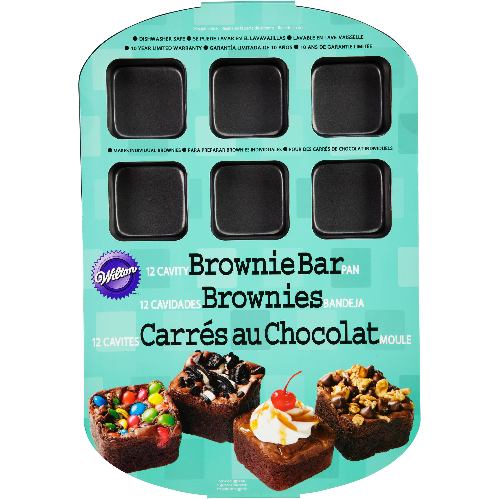 Wilton 12-Cavity Brownie Bar Pan 2105-0454