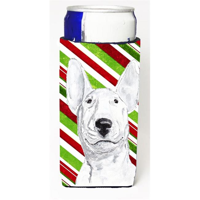 Bull Terrier Candy Cane Christmas Michelob Ultra bottle sleeves For Slim Cans - 12 oz. - image 1 of 1