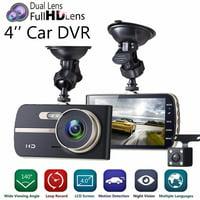 1080P Full HD Dual Lens Car DVR Camera 4.0 Inch LCD Display Video Recorder Dash Cam