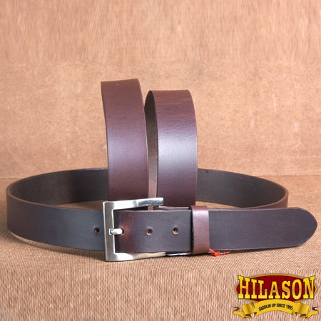 32 CASUAL JEANS DRESS BELT VINTAGE WESTERN GENUINE LEATHER MAHOGANY