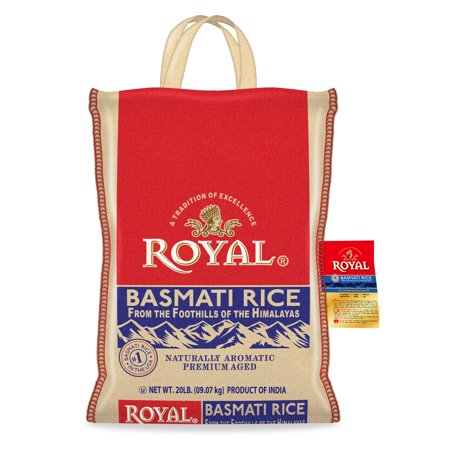 Royal Basmati Rice, 20-Pound Bag with Handle (Best Way To Lose 20 Pounds In 2 Months)