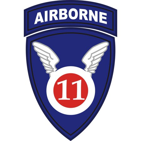 - 3.8 Inch 11th Airborne Division Window Decal Sticker