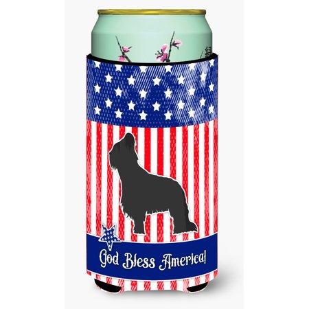 USA Patriotic Briard Tall Boy Beverage Insulator Hugger BB3326TBC