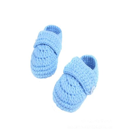 Crib Crochet Casual Baby Handmade Knit Sock Infant Shoes Crocheted Baby Shoes