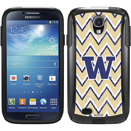 University of Washington Sketchy Chevron Design on OtterBox Commuter Series Case for Samsung Galaxy S4