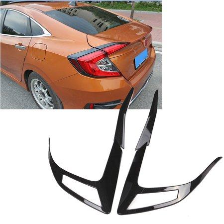 4Pcs Carbon Fiber Tail Light Eyelid Trim for Honda Civic 10th Sedan 2016 2017 Carbon Fiber Euro Tail