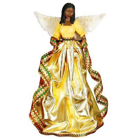 TIFFANY in GOLD African American Angel Christmas Tree Topper, United (Tiffany Christmas Tree)