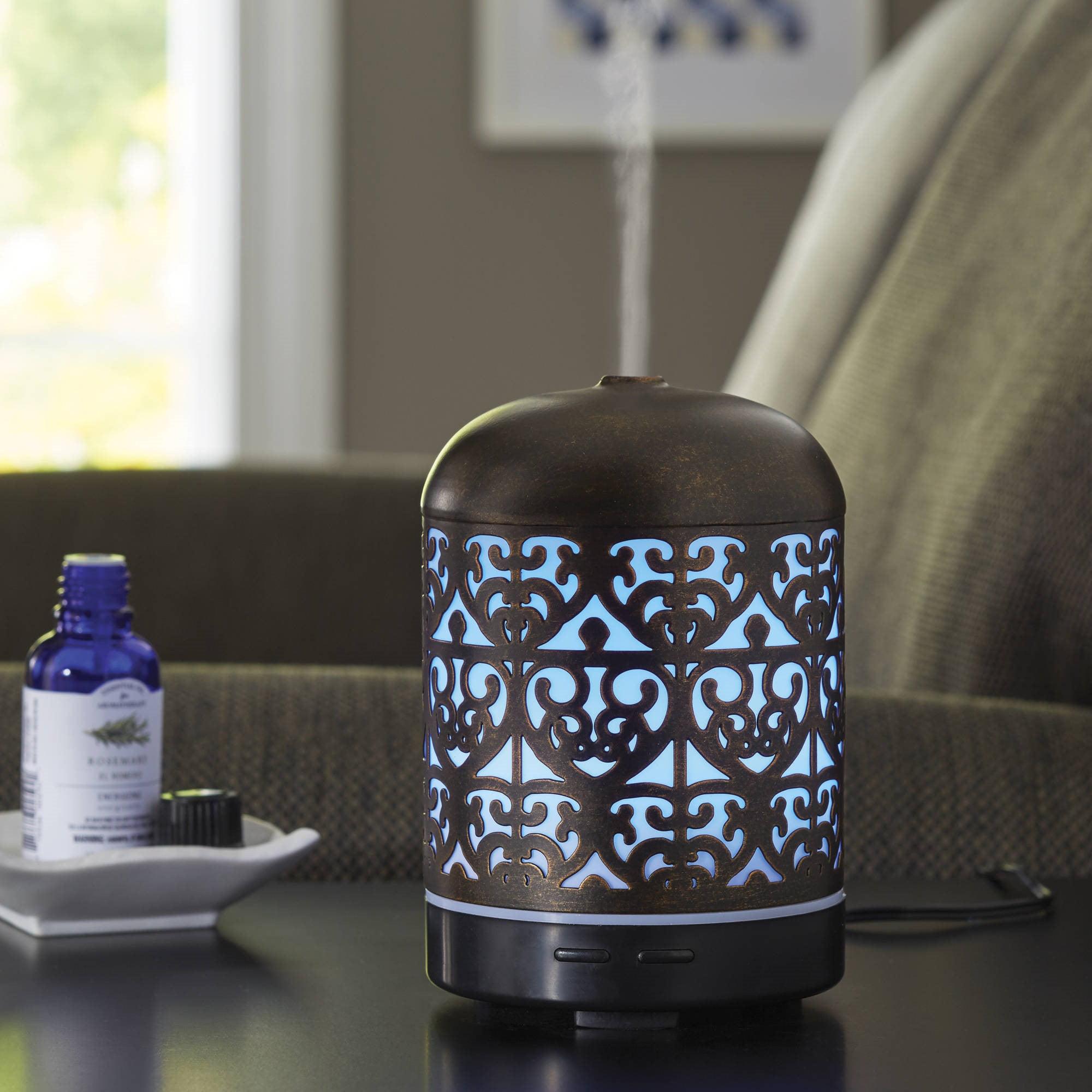 Better Homes Gardens 100 Ml Ultrasonic Aroma Diffuser Moroccan Scroll Walmart Com Walmart Com