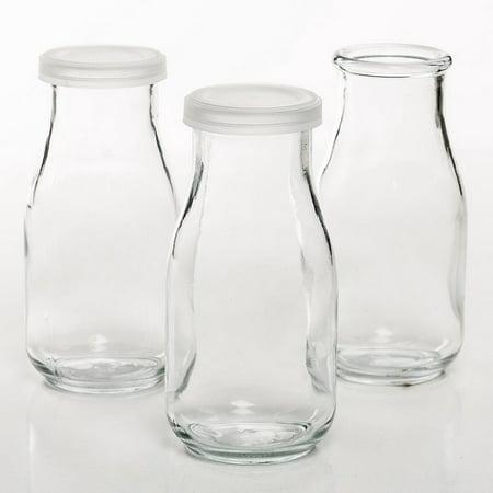 Glass Pint Milk Bottles (Pack of 6) - Glass Bottle Halloween Crafts