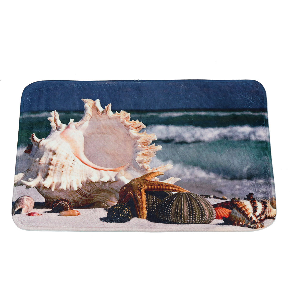 """Shark In Ocean Flannel Bathroom Rug Non-Slip Floor Door Mat 16x24/"""""""