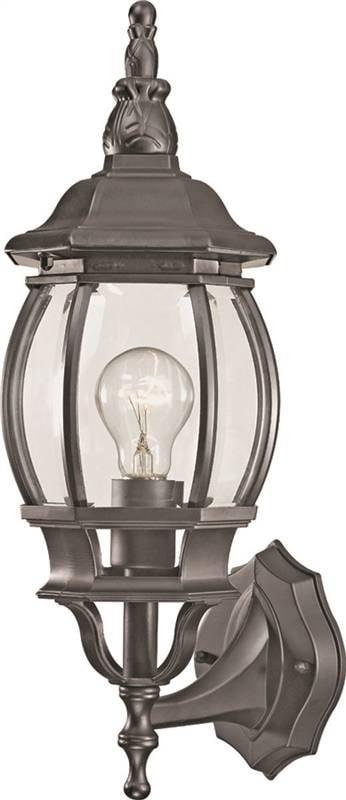Boston Harbor DG-WL16-BK Porch Light Fixture, CFL, A19, 23 W, 1 Lamp by Boston Harbor