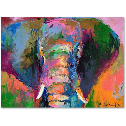 "Trademark Fine Art ""Elephant 2"" Canvas Art by Richard Wallich"