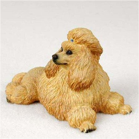 Poodle, Apricot Original Dog Figurine (4in-5in), Each figurine is carefully hand painted for that extra bit of realism. By Conversation Concepts Ship from US