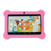 """Kids Safe 7"""" Quad-Core Tablet 512M+8GB WIFI MID Dual Cameras Kid-Proof Case with US Plug (Pink)"""