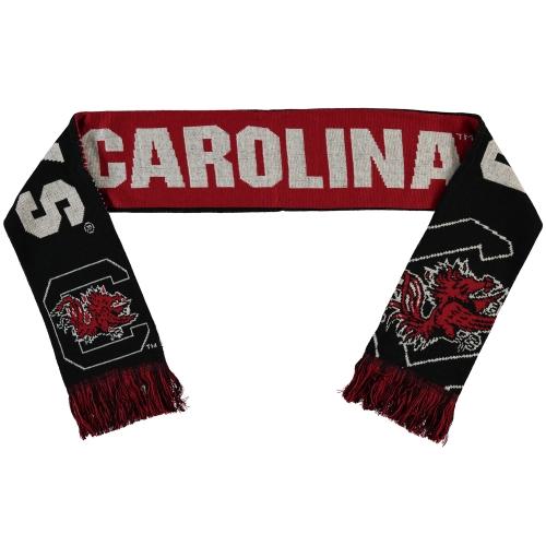 South Carolina Gamecocks Split Logo Reversible Scarf NCAA Forever Collectibles