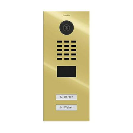 DoorBird IP Video Door Station D2102V, Flush-mounted, - 2 Call Buttons BRASS (V4A)