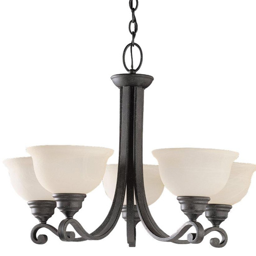 Sea Gull Lighting 39059BLE-07 5-Light Serenity Chandelier, Weathered Iron