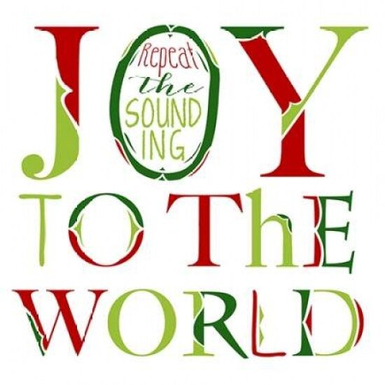 Joy To The World On White Poster Print By Longfellow Designs Walmart Com Walmart Com