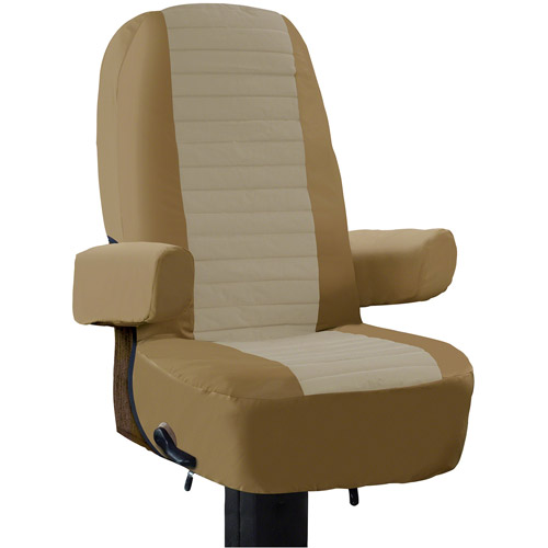 Classic Accessories RV Captain's Seat Cover, Alder/Natural Color