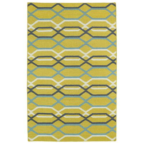 Ebern Designs Dolton Yellow Geometric Area Rug