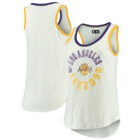 Los Angeles Lakers G-III 4Her by Carl Banks Women's Reverse Standing Sueded Slub Tank Top - White