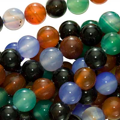 Agate Color Mix - 8mm Round Beads /15.5 Inch Strand